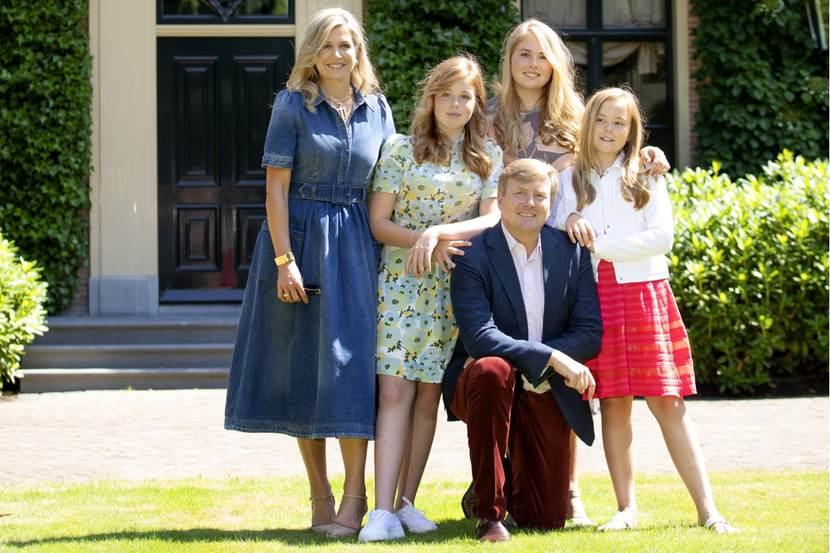 Photo sessions with King Willem-Alexander and his family