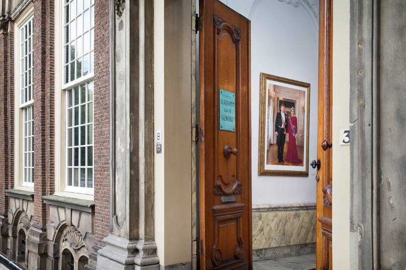 office in house. Entrance To The King\u0027s Office In Hague. House